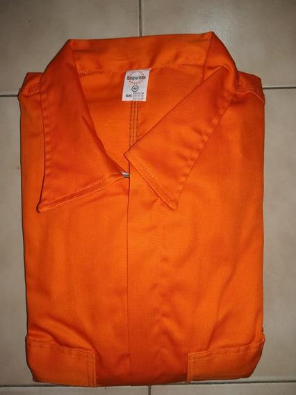 Braga Drill M/larga Con C/reflectiva. Naranja. Talla 40