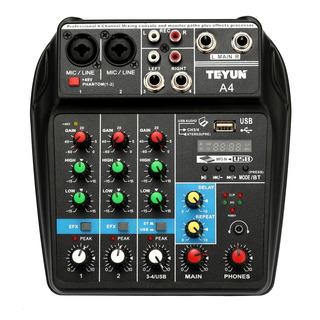 Consola Mezcladora Tu04 Bt Sonar Mixing Registro 48v