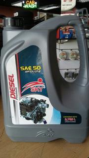 Aceite Sae 50 Diesel Sky Galon
