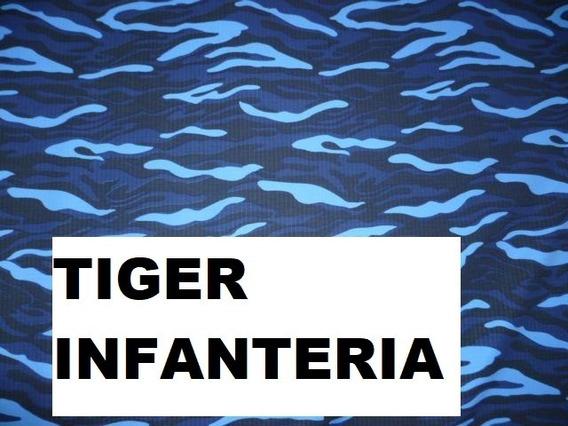 Tela Rip Stop Antidesgarro Camuflado Tiger