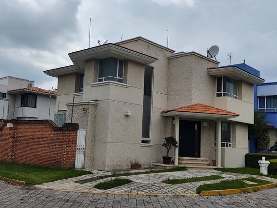 Renta Casa En Esquina Con Jardin, San Andres Cholula Puebla