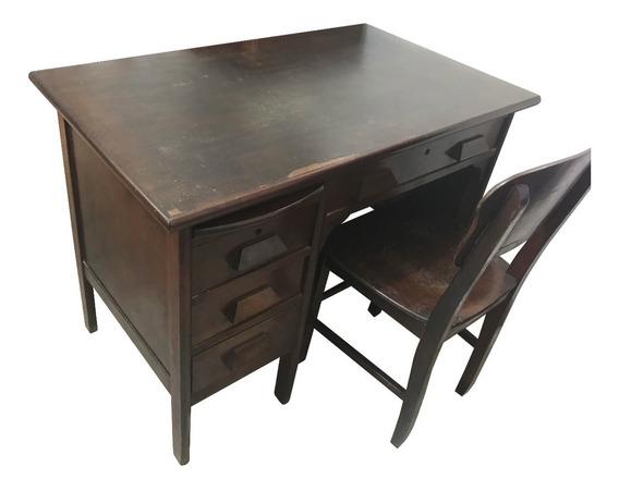 Escrivaninha / Mesa De Madeira 40s Escritorio (miele)