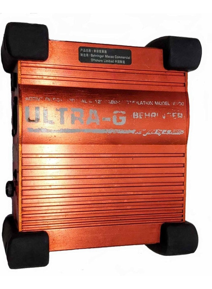 Direct Box Ultra-g Behringer Gi 100 Para Guitarra