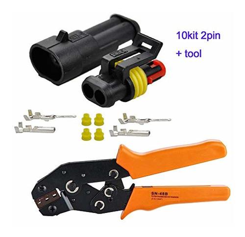 Brand: Hifrom 10 Kit 2 Pin Way Waterproof