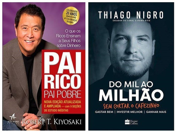 2 Livros- Do Mil Ao Milhão Thiago Nigro + Pai Rico Pai Pobre