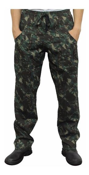 Kit 1 Calça E 1 Camiseta Manga Longa Camuflada Pesca E Caça