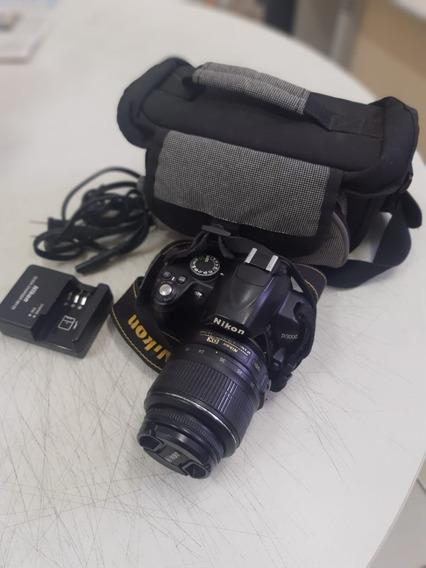 Corpo Da Câmera Nikon D3000 E Acessórios Originais