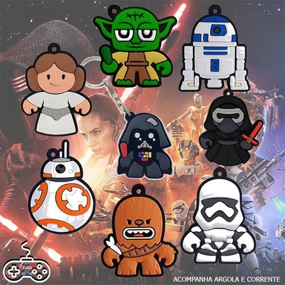 Kit 8 Chaveiros Emborrachados - Coleção Star Wars!