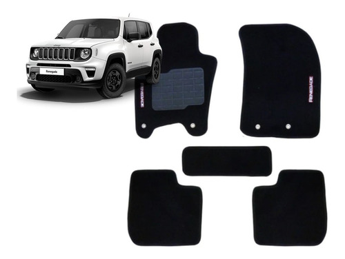 Jogo Tapetes Ecotap Soft Carpete Jeep Renegade 15/... Preto