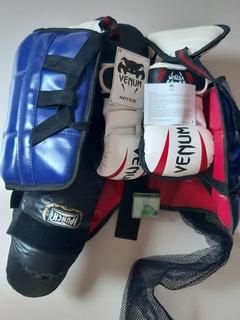 Luvas Venum Elite + Kit Completo De Proteção Para Lutas