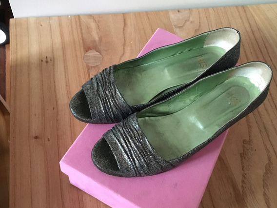 Zapatos De Purpurina Peltre: Mishka Talle 37
