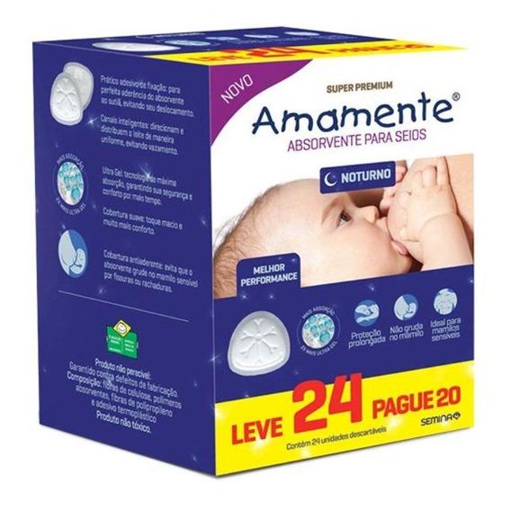 Kit 6 Absorvente Para Seios Noturno Amamente - L24 P20 Cada