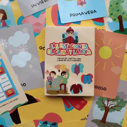 Imagen 1 de 3 de Las Estaciones El Clima Y La Ropa Juego Montessori P/niños
