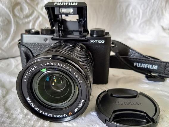 Camera Fujifilm X-t100 + Lente Fujinon 18-55 F/2.8-4 + Extra