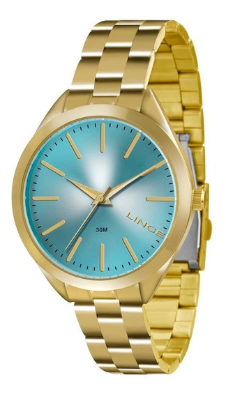 Relógio Lince Feminino Dourado Lrg4329l Original Barato
