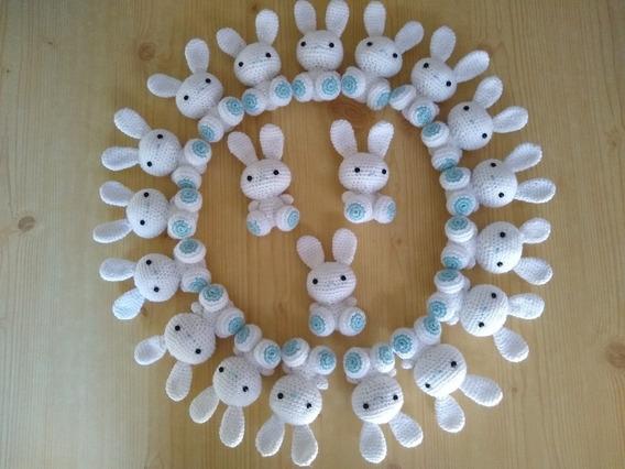 Souvenir Amigurumi Conejo (tejido A Crochet) Nacimiento