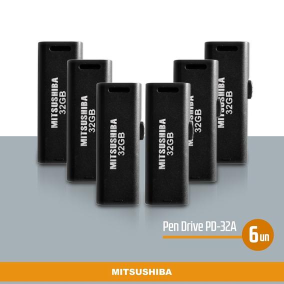 Kit Pen Drive 32gb 6pcs Mitsushiba
