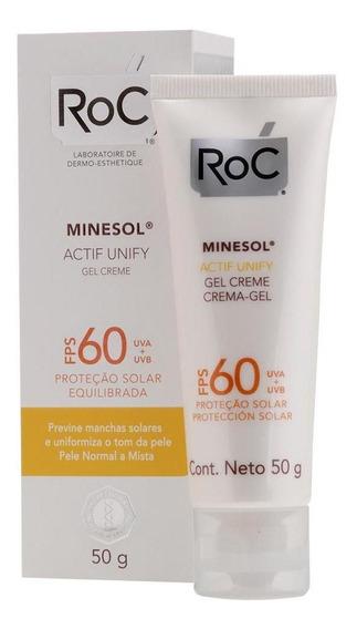 Protetor Solar Roc Minesol Gel Creme Actif Unify Fps 60 50g