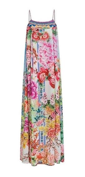 Maxi Vestido Multicolor De Tirantes Cherry Pink