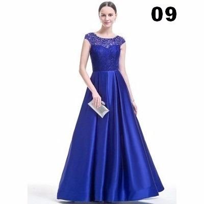 d8f3d98a4 Lindo Vestido Em Cetim Com Renda Para Festas Noite Casamento - R ...
