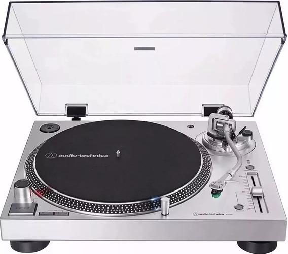 Toca Discos Audio Technica At-lp 120x Usb/ Prata/bivolt/novo