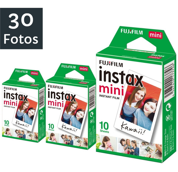 Filme Fujifilm Instax Mini Todas Câmeras Instantânea C/ 30un