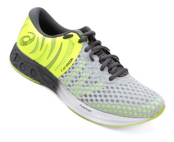 Tênis Running Asics Masculino Noosa Ff2 T819n Cinza/verde
