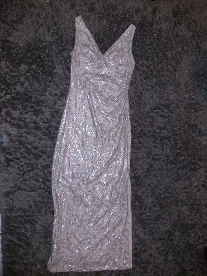 Vestido Ralph Lauren Beige Talla 12