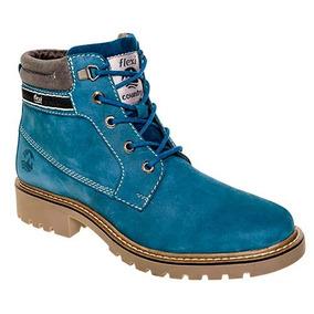 Botas Para Dama Marca Flexi Color Azul 37807 Dgt