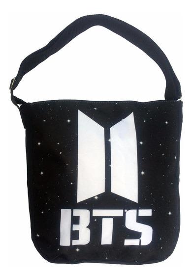Bolsa Bts Kpop Novo Logo Jung + Colar Da Amizade + Camiseta