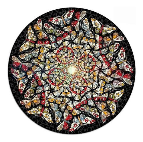 Imagen 1 de 1 de Rompecabezas Mandala Mariposas, 500 Piezas