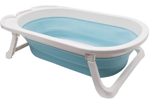 Banheira Infantil Portátil Dobrável Baby Azul 12113 Buba