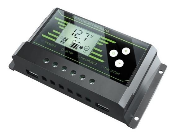 Controlador Carga 30a Painel Solar Luz Aerogrador Bateria Pb