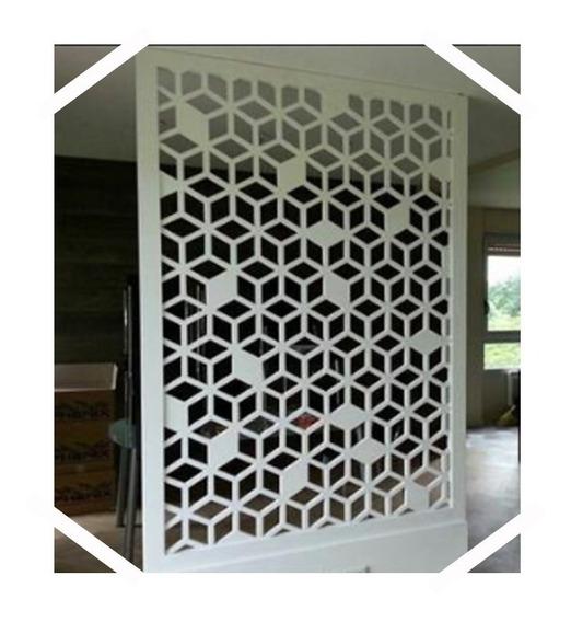Paneles Decorativos Separador De Ambientes Biombo 180x60