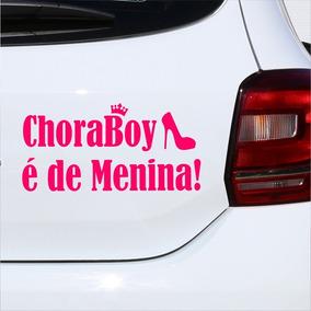 Adesivo Para Carro Frase Chora Boy É De Menina (020x010)cm