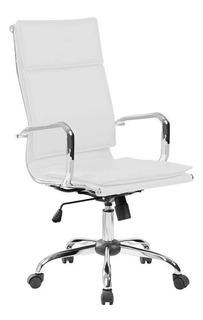 Cadeira De Escritório Presidente Eames Comfort Branca