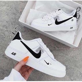 Tenis Nike Air Force One Blanco Tm Hombre Mujer + Envgratis