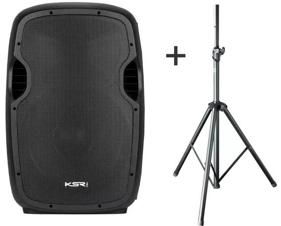 Caixa Ativa 15 Ksr Pro K815 Usb Bluetooth + Tripe - Kadu Som