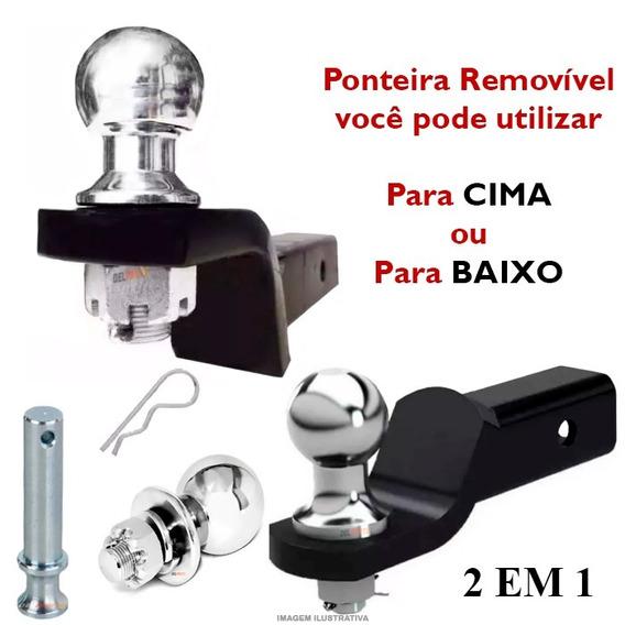 Kit Ponteira Removivel Engate Universal Reboque L200 Triton