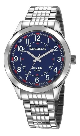 Relógio Seculus Masculino Long Life Analógico 23644g0svna2