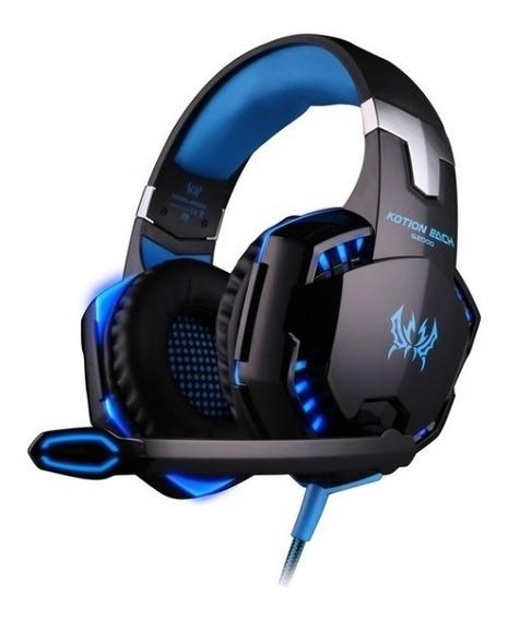 Headset G2000 Azul Para Pc, Ps4 E Xbox