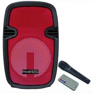 Bocina Power Co Xp-8000rd, 4200 W, Rojo Modelo Xp-8000rd