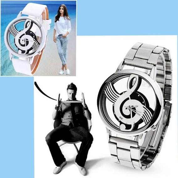 Relógio Masculino Feminino Clave De Sol 2 Relógios Promoção