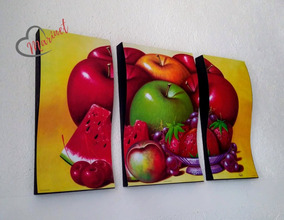Cuadros Tripticos Modernos De Frutas en Mercado Libre México