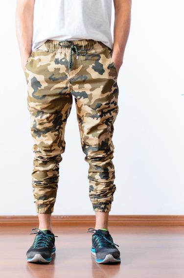 Calça Jogger Masculina Adulto Sarja Jeans Camuflada Promoção
