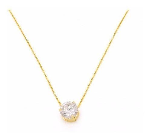 Cordão,colar,corrente,40cm 18k+ Pingente Ouro 18k Ponto Luz