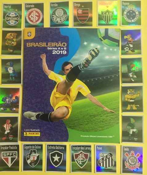 Campeonato Brasileiro 2019 Album Completo Com 550 Figurinhas