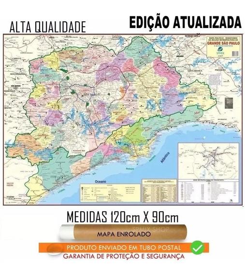 Mapa Grande São Paulo Baixada Santos Enrolado