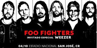 Entradas Foo Fighters Weezer. Sombra Este.