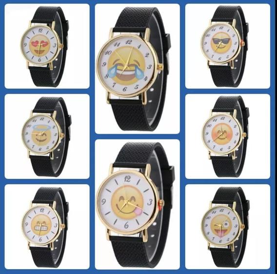 Lote De 10 Relojes Emoji Emoticon Nueva Moda 2017 Unisex,